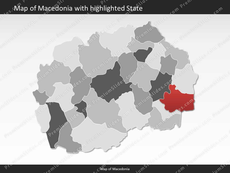 Macedonia Map Editable Map Of Macedonia For Powerpoint Download