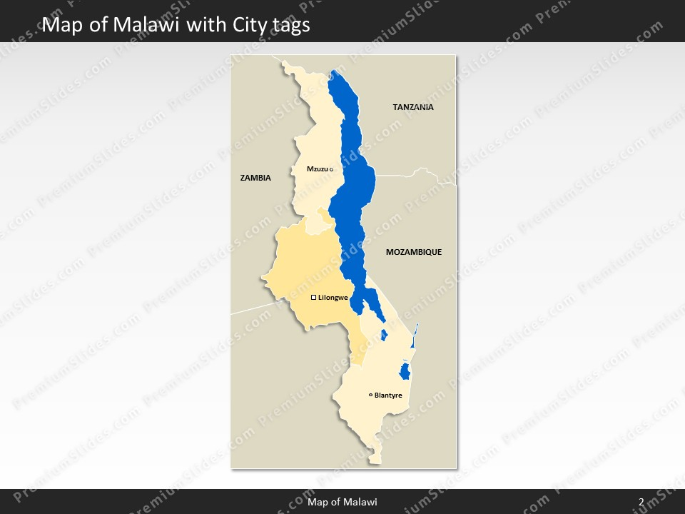 powerpoint map malawi Slides included in this