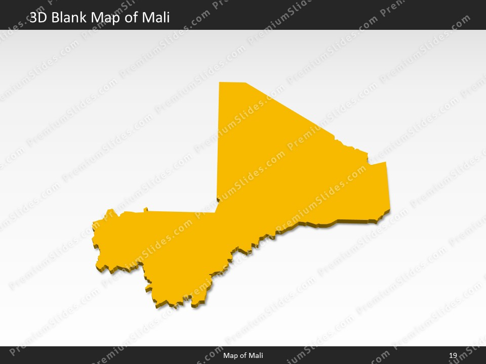 Mali Map Editable Map Of Mali For PowerPoint Download - Map of mali
