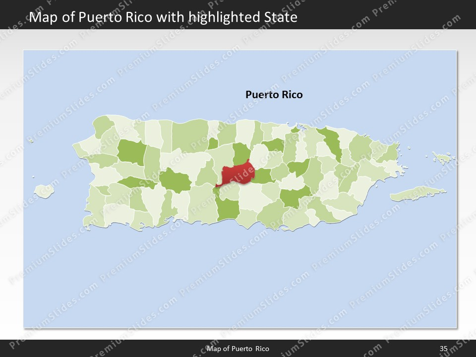 Kentucky County Map Editable%0A powerpoint map puerto rico  Slides included in this package