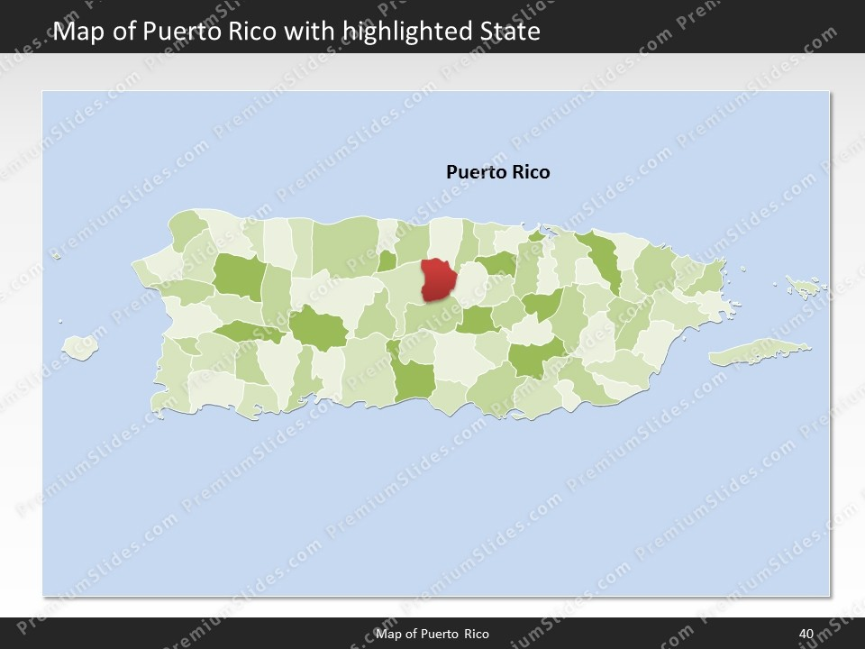 Puerto Rico Map Editable Map Of Puerto Rico For Powerpoint