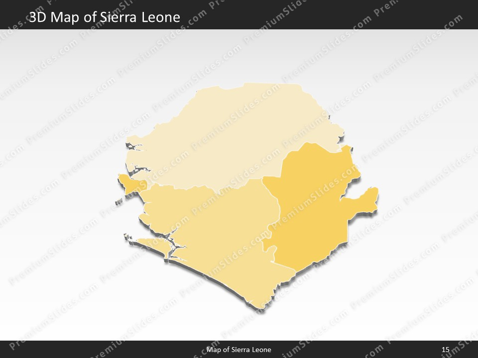 Kentucky County Map Editable%0A powerpoint map sierra leone  Slides included in this package