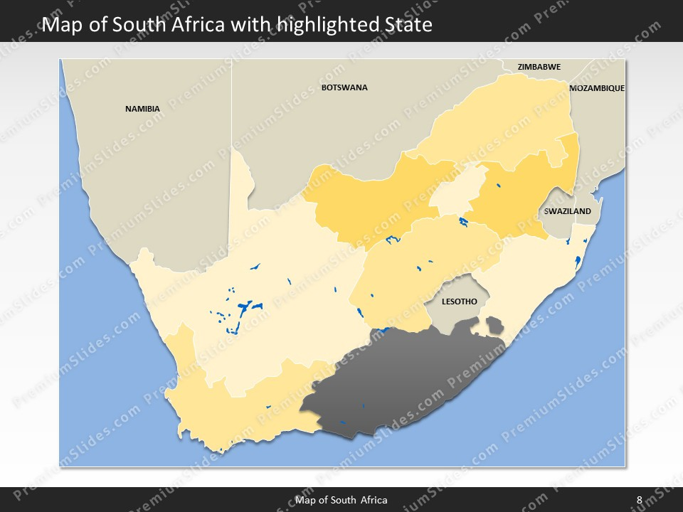 South africa map editable map of south africa for powerpoint powerpoint map south africa slides included in this package gumiabroncs Image collections