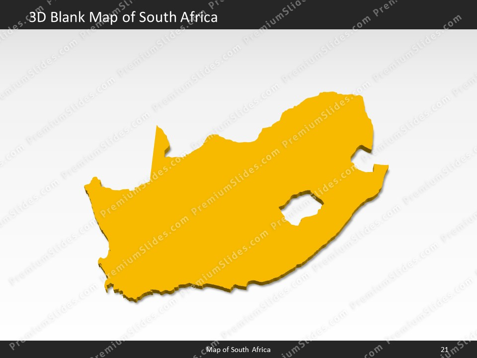 South Africa Map Editable Map of South Africa for PowerPoint