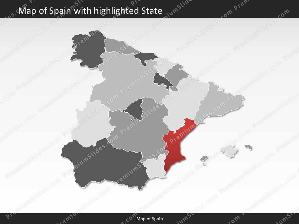 Map Of Spain With States.Spain Map Editable Map Of Spain Template For Powerpoint