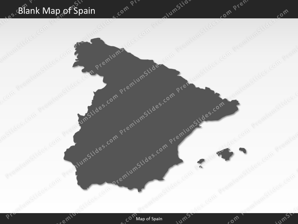 Map Of Spain Blank.Spain Map Editable Map Of Spain Template For Powerpoint