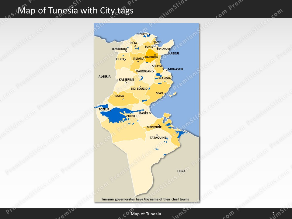 Tunisia Map Editable Map of Tunisia for PowerPoint Download