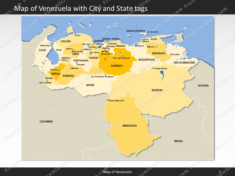 Slides included in this package Venezuela Map