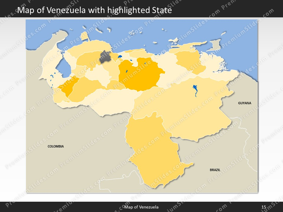 Venezuela map editable map of venezuela for powerpoint download powerpoint map venezuela slides included in this package gumiabroncs Choice Image