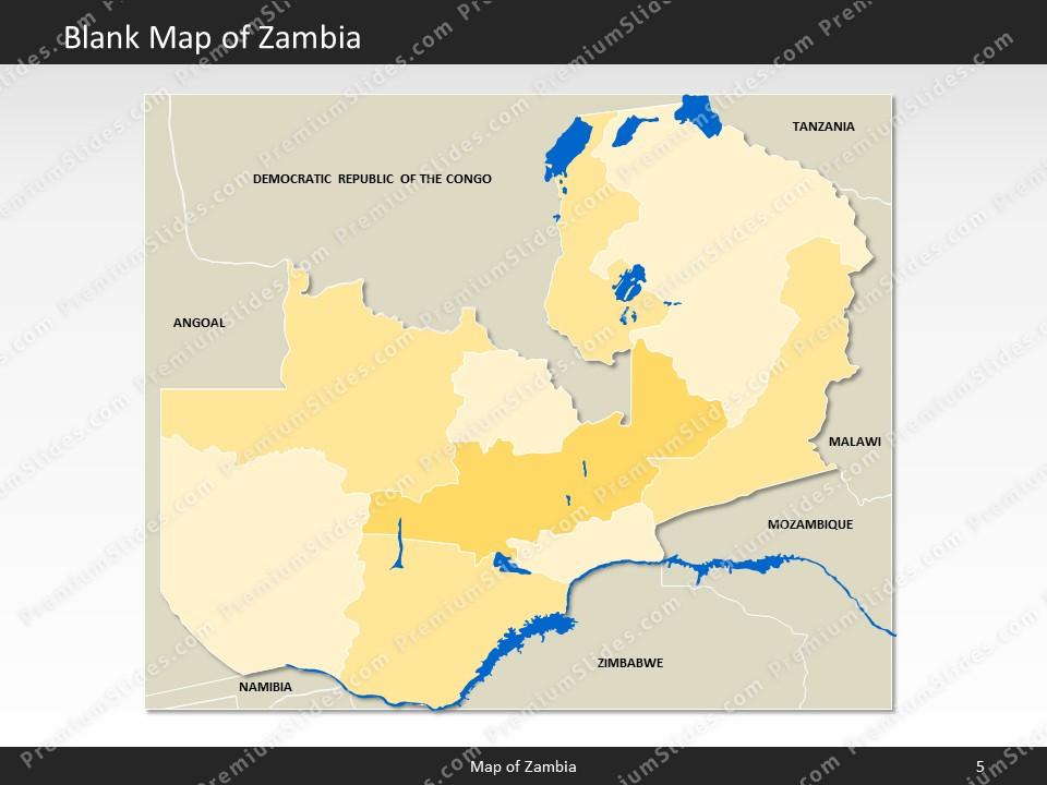 Map Zambia.Zambia Map Editable Map Of Zambia Template For Powerpoint