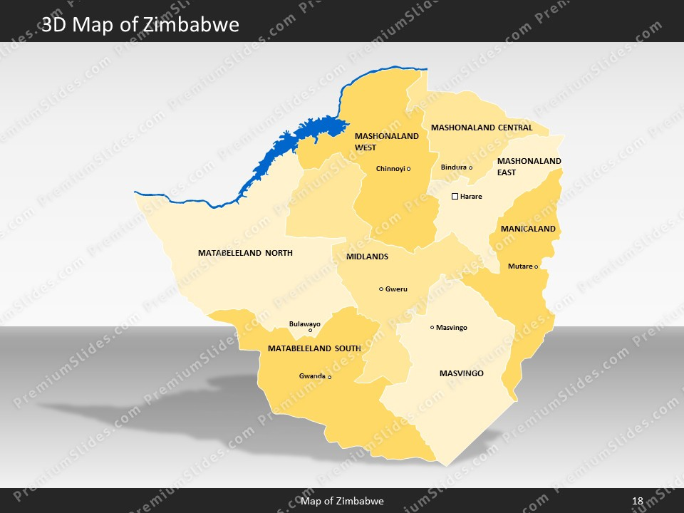 Zimbabwe map editable map of zimbabwe for powerpoint download powerpoint map zimbabwe slides included in this package gumiabroncs Image collections