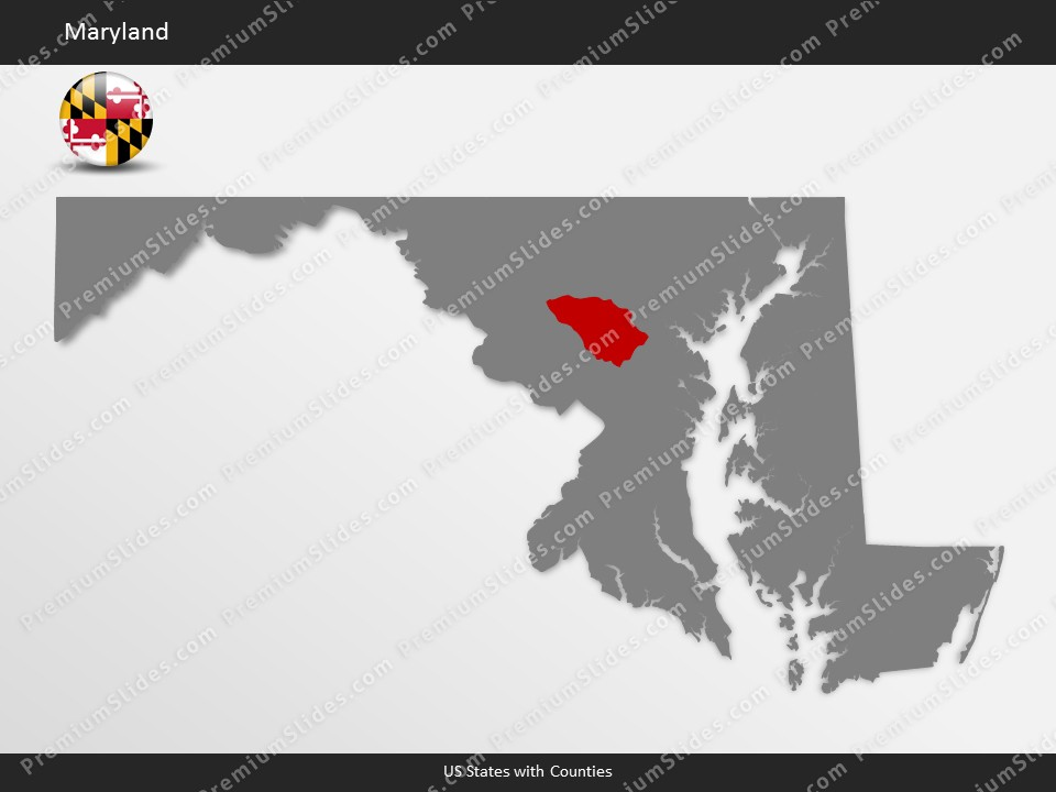 Kentucky County Map Editable%0A Maryland County Map Template for PowerPoint  Slides included in this  package