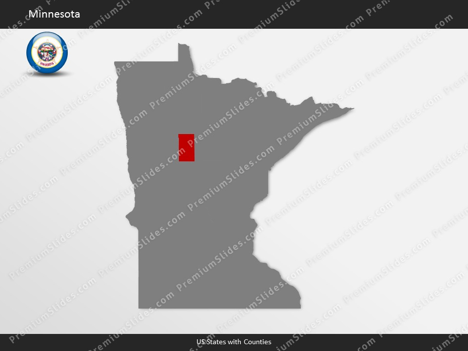 Kentucky County Map Editable%0A Minnesota County Map Template for PowerPoint  Slides included in this  package