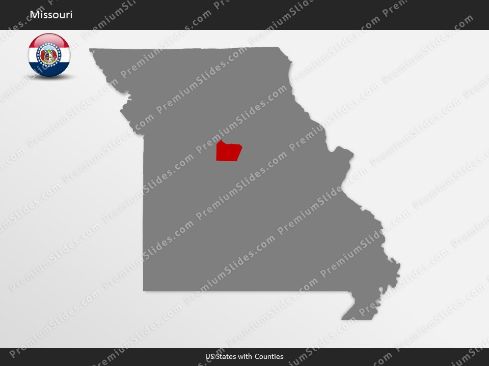 Kentucky County Map Editable%0A Missouri County Map Template for PowerPoint  Slides included in this  package