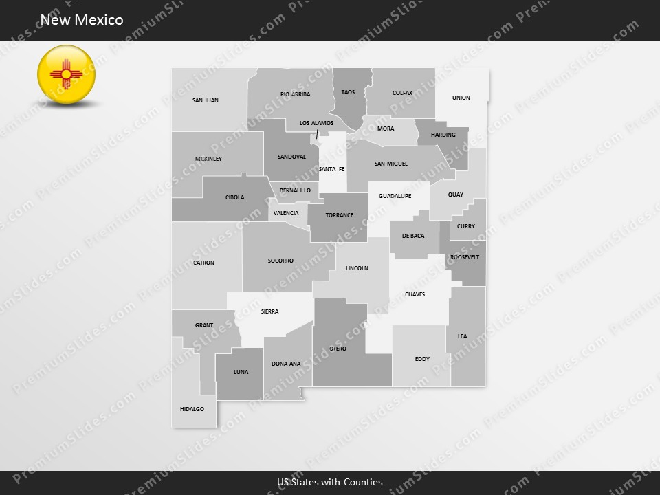us state new mexico county map template for microsoft powerpoint