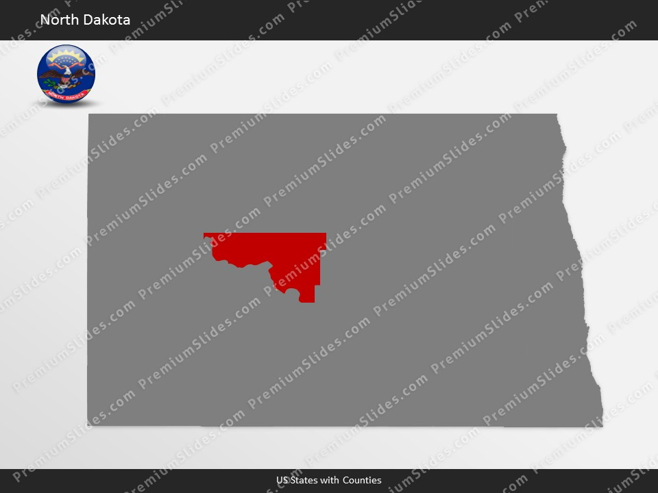 Kentucky County Map Editable%0A North Dakota County Map Template for PowerPoint  Slides included in this  package