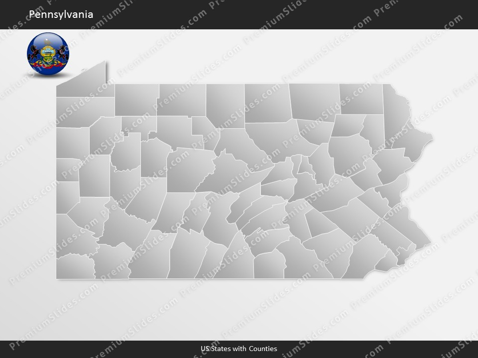Kentucky County Map Editable%0A Pennsylvania County Map Template for PowerPoint  Slides included in this  package