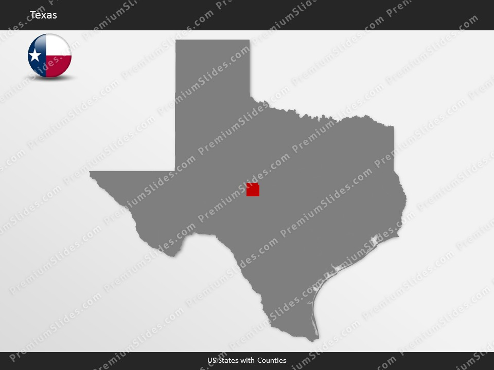 Kentucky County Map Editable%0A Texas County Map Template for PowerPoint  Slides included in this package