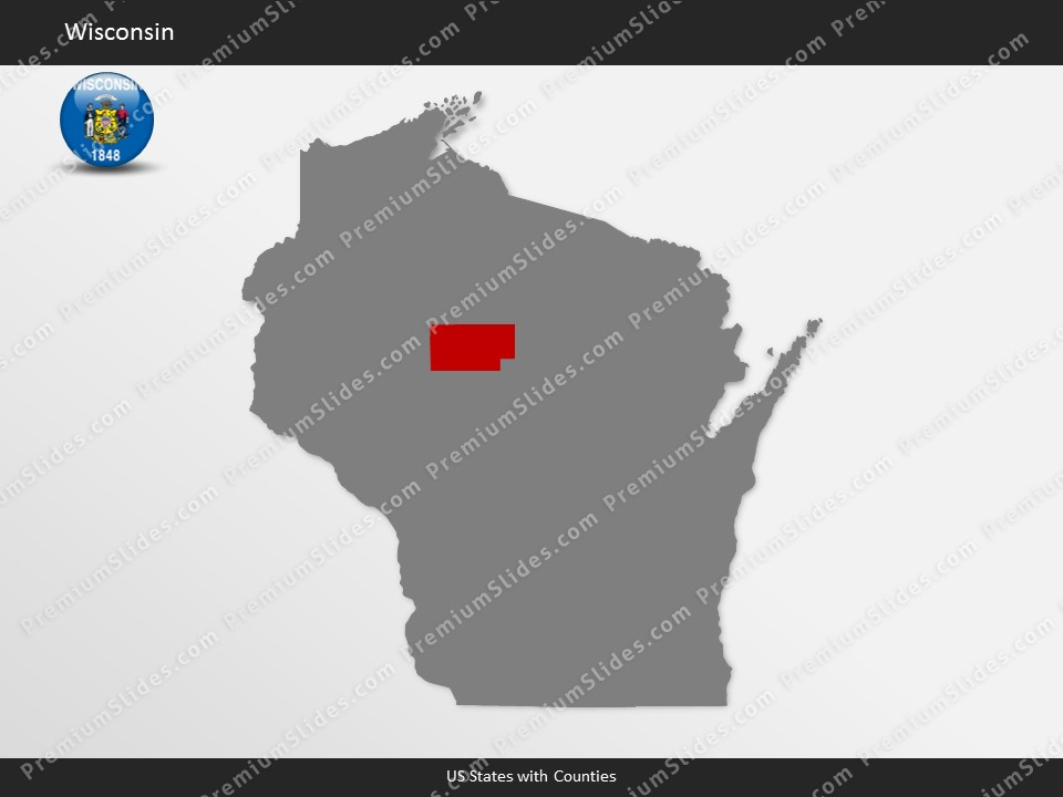us wisconsin county map template for microsoft powerpoint