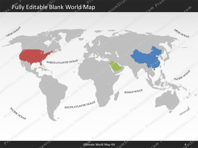 World map template for powerpoint premiumslides ultimate world map kit classic slides included in this package gumiabroncs Images