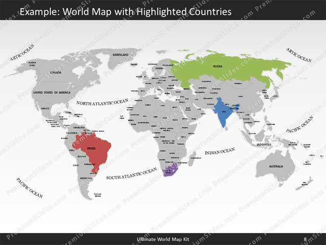 World map template for powerpoint premiumslides ultimate world map kit classic slides included in this package gumiabroncs Image collections