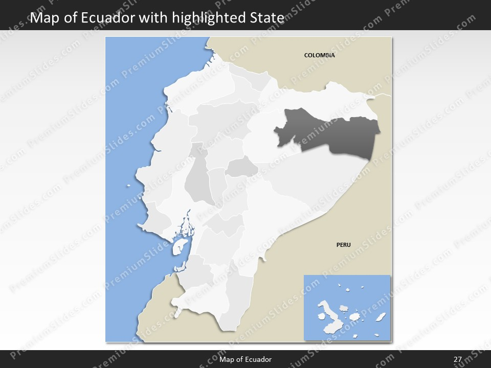 Ecuador map editable map of ecuador for powerpoint download powerpoint map ecuador slides included in this package gumiabroncs Image collections