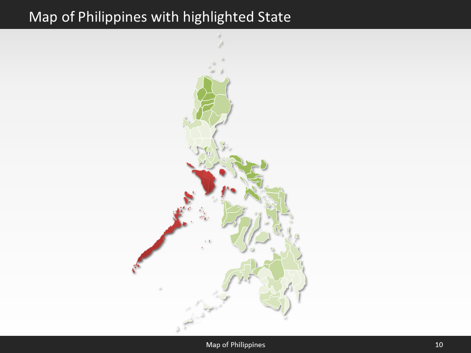 Philippines Map - Editable Map of Philippines for PowerPoint ...