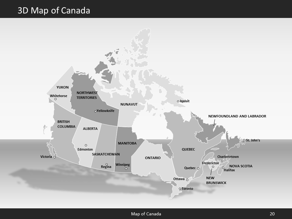 canada map editable map of canada for powerpoint