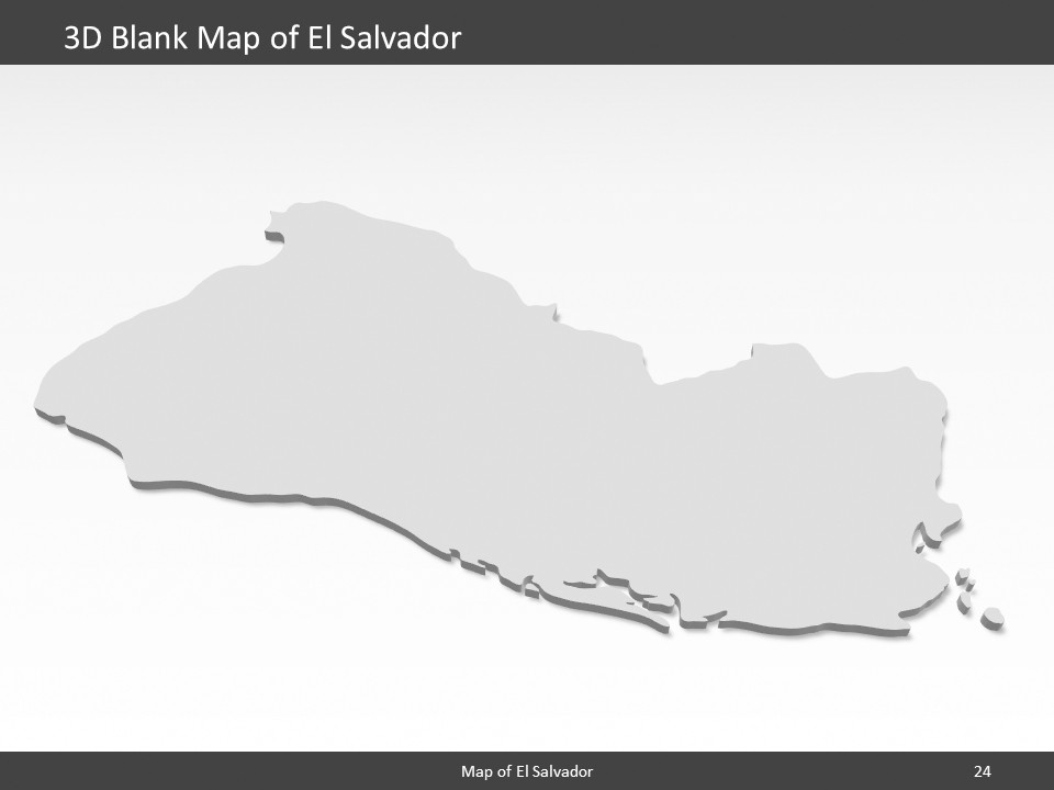 El Salvador Map - Editable Map of El Salvador - Template for PowerPoint