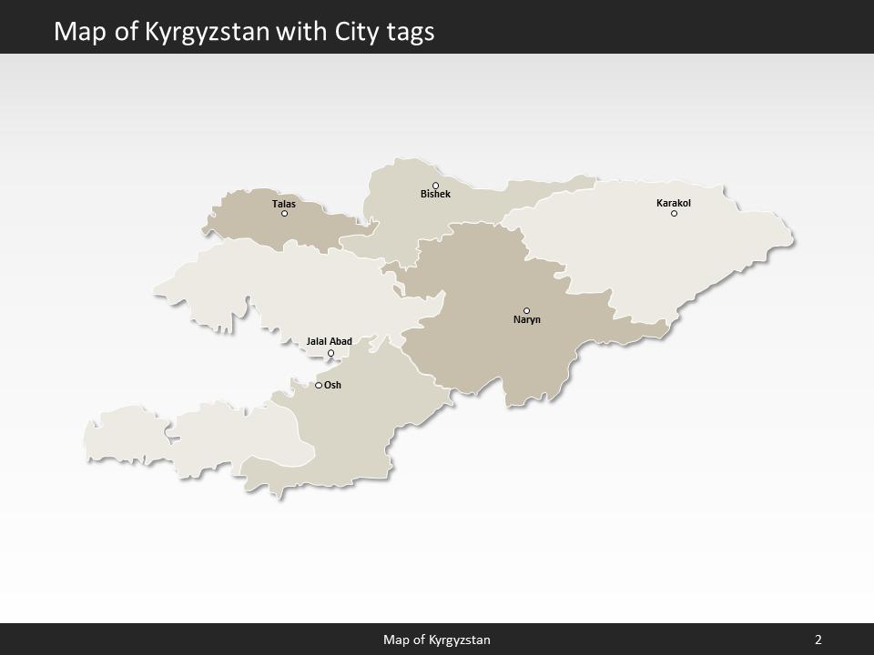 kyrgyzstan map editable map of kyrgyzstan for powerpoint