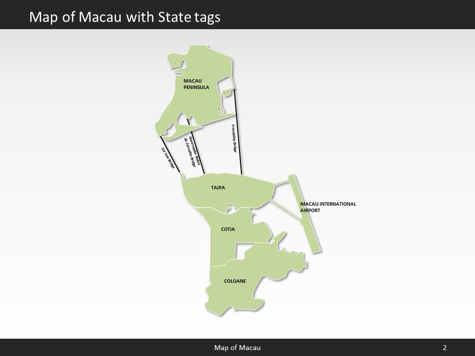 e58bf7342 Macau Map - Editable Map of Macau - Template for PowerPoint