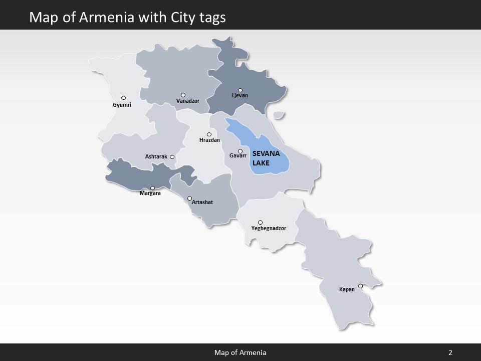 Armenia Map - Editable Map of Armenia - Template for PowerPoint on tatev armenia map, yerevan armenia map, gyumri armenia map,