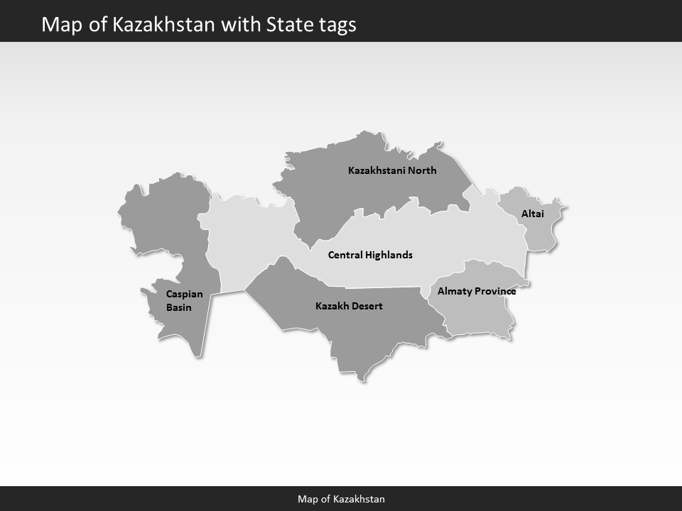 Kazakhstan map editable map of kazakhstan for powerpoint powerpoint map kazakhstan slides included in this package publicscrutiny Image collections