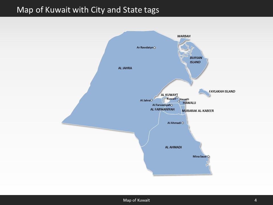 Kuwait Map Editable Map of Kuwait for PowerPoint Download