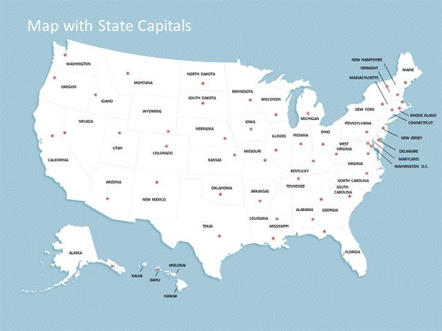 usa map template for powerpoint fully editable