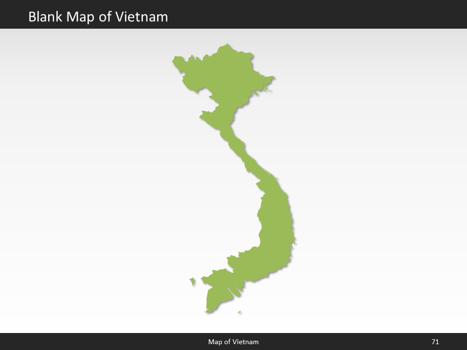 vietnam map editable map of vietnam for powerpoint