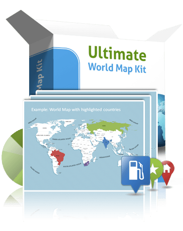 World map template for powerpoint premiumslides questions about ultimate world map kit gumiabroncs Images