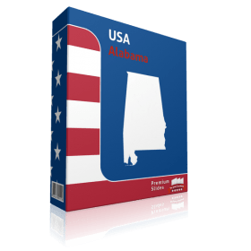 Alabama County Map Template for PowerPoint