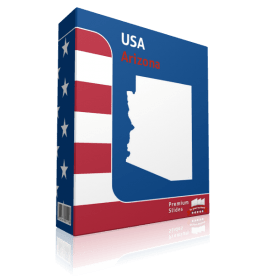 Arizona County Map Template for PowerPoint
