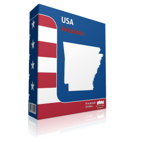 Arkansas County Map Template for PowerPoint