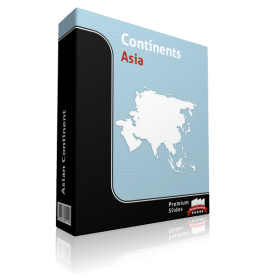 Asia Continent Map - Editable Map of Asia Continent - Template for PowerPoint