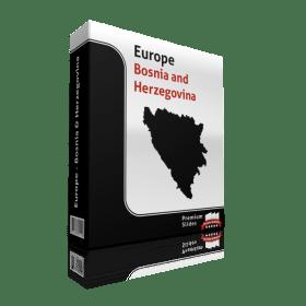 powerpoint map bosnia and herzegovina