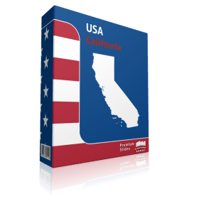 California County Map Template for PowerPoint