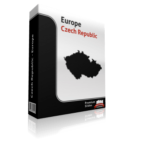 powerpoint map czech republic
