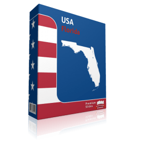 Florida County Map Template for PowerPoint