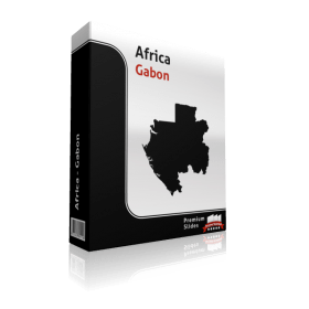 powerpoint map gabon