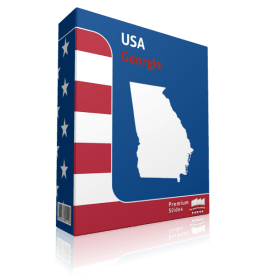 Georgia County Map Template for PowerPoint