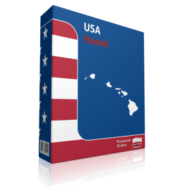 Hawaii County Map Template for PowerPoint