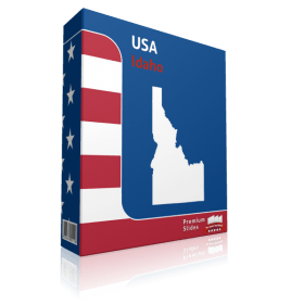 Idaho County Map Template for PowerPoint