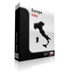 powerpoint map italy